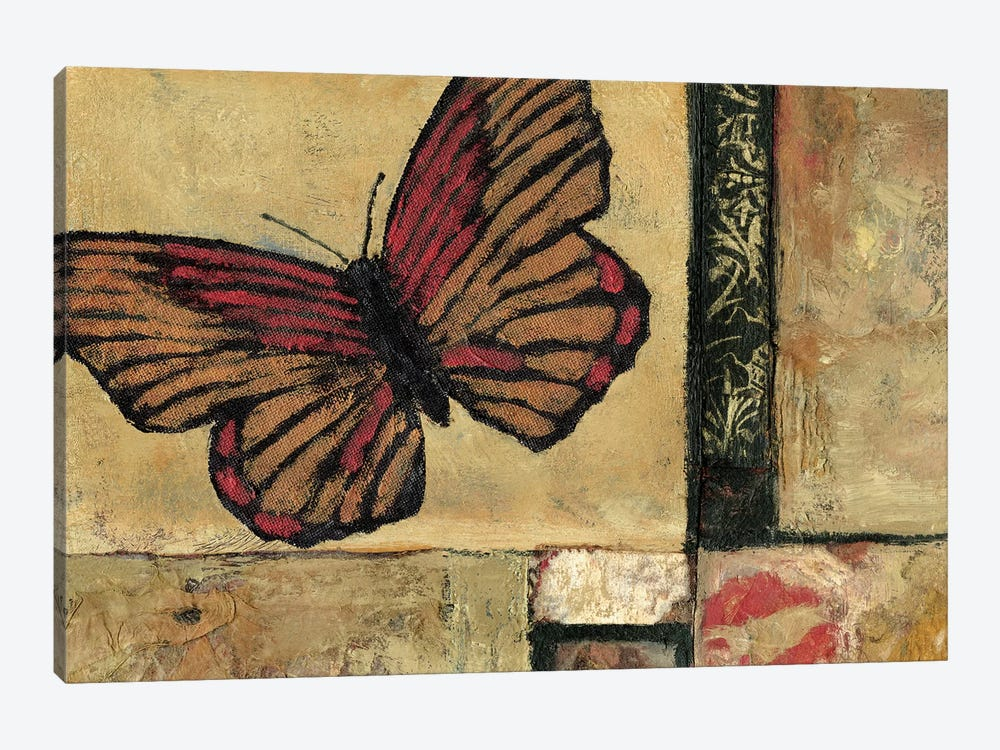 Butterfly In Red by Judi Bagnato 1-piece Canvas Print