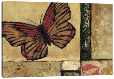Butterfly In Red Canvas Art Print