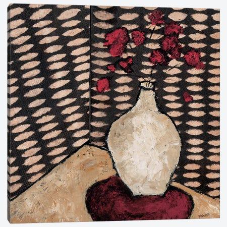 White Vase Canvas Print #JBA23} by Judi Bagnato Canvas Wall Art