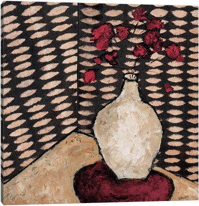 White Vase Canvas Art Print