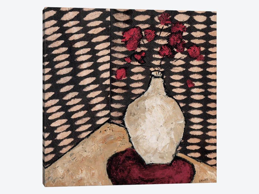 White Vase by Judi Bagnato 1-piece Canvas Print
