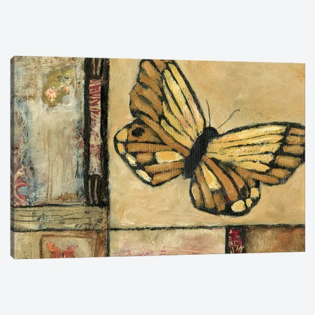 Butterfly In Yellow Canvas Print #JBA2} by Judi Bagnato Canvas Art