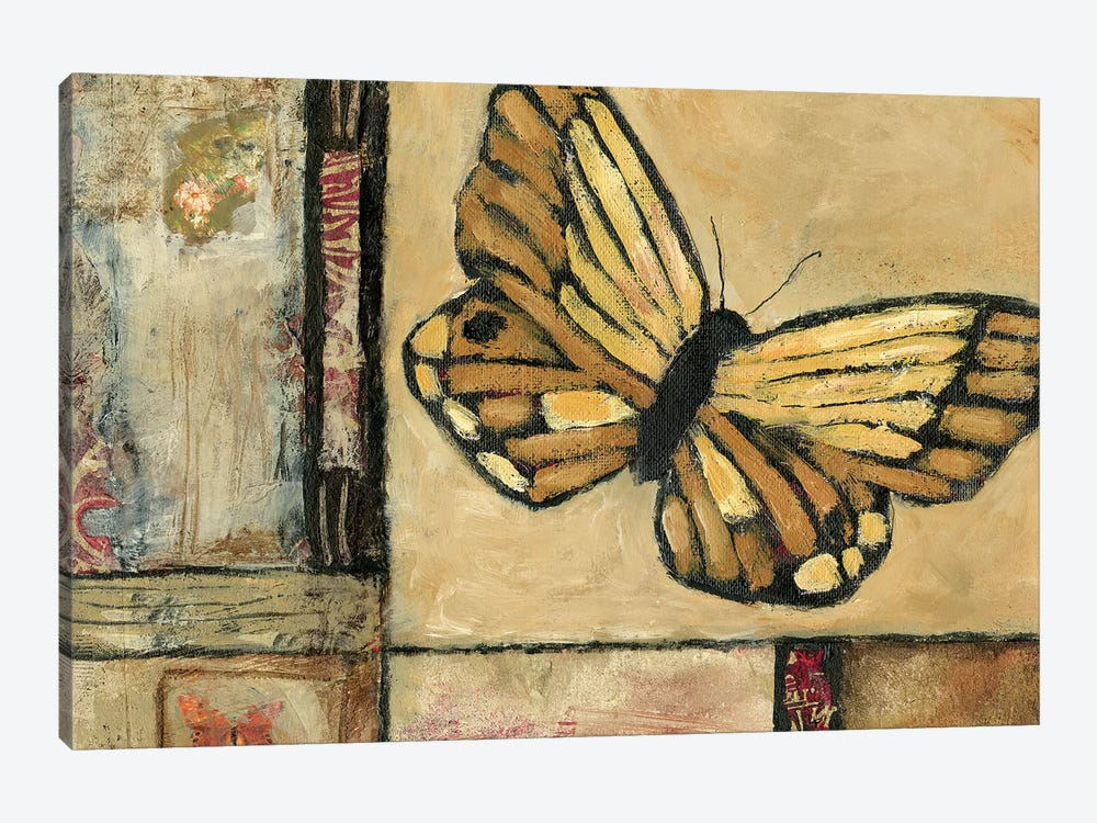 Butterfly In Yellow by Judi Bagnato 1-piece Canvas Art