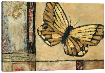 Butterfly In Yellow Canvas Art Print