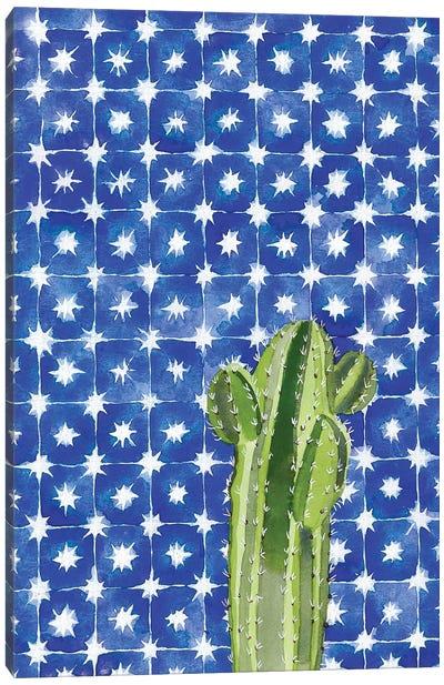 Blue Tile Agave Canvas Art Print