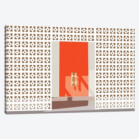 Mid Century Modern Front Door Canvas Print #JBC13} by Jen Bucheli Art Print