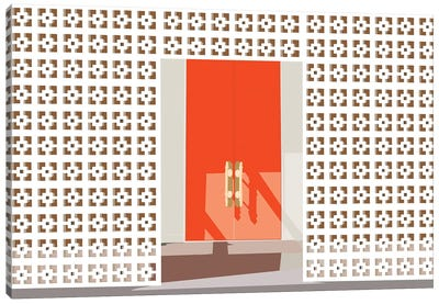 Mid Century Modern Front Door Canvas Art Print