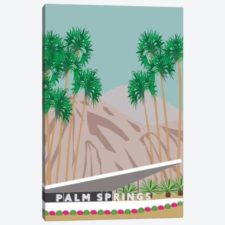 Palm Springs Hotel Canvas Print #JBC15} by Jen Bucheli Canvas Wall Art