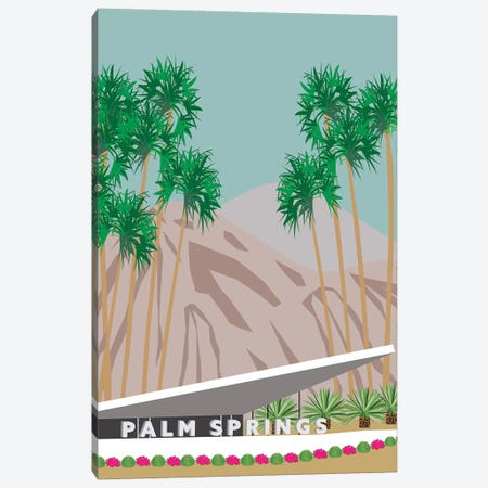 Palm Springs Hotel Canvas Print #JBC15} by Jen Bucheli Canvas Wall Art
