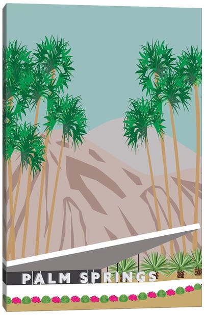 Palm Springs Hotel Canvas Art Print