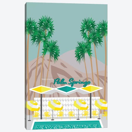 Palm Springs Pool Canvas Print #JBC17} by Jen Bucheli Canvas Wall Art
