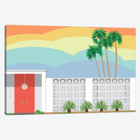Palm Springs Sunset Canvas Print #JBC18} by Jen Bucheli Art Print