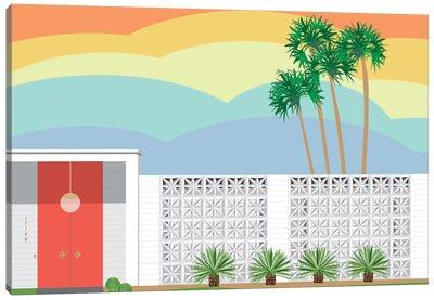 Palm Springs Sunset Canvas Art Print