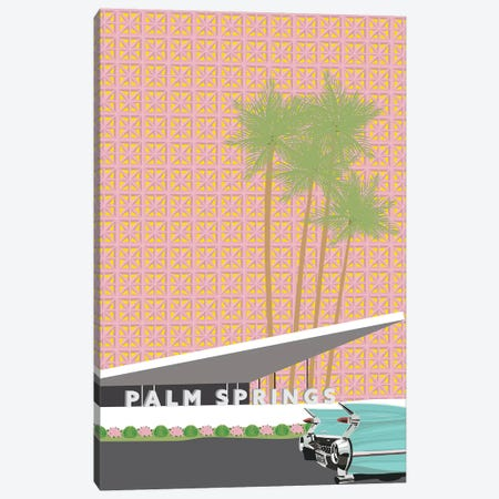 Palm Springs with Convertible Canvas Print #JBC19} by Jen Bucheli Canvas Print