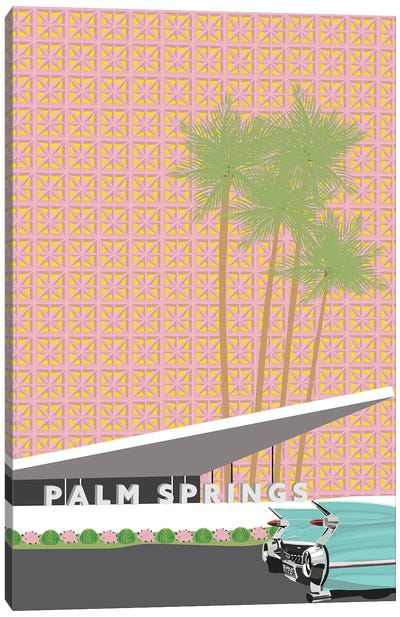 Palm Springs with Convertible Canvas Art Print