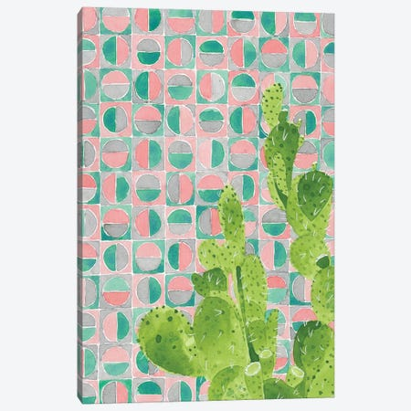 Pink Tile Agave Canvas Print #JBC20} by Jen Bucheli Canvas Artwork