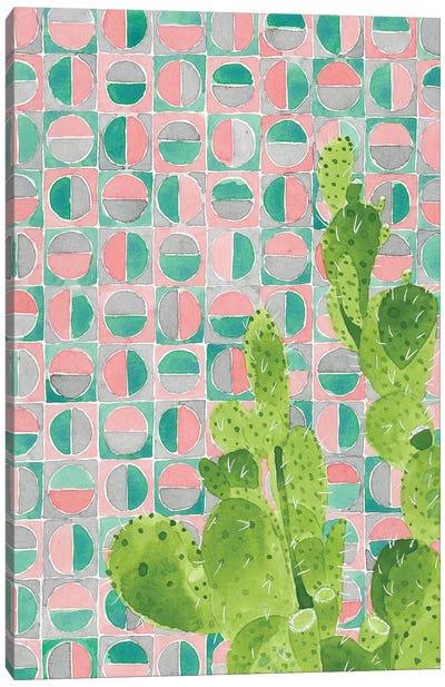 Pink Tile Agave Canvas Art Print