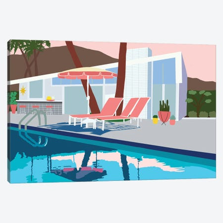Pool Lounge I Canvas Print #JBC21} by Jen Bucheli Canvas Art