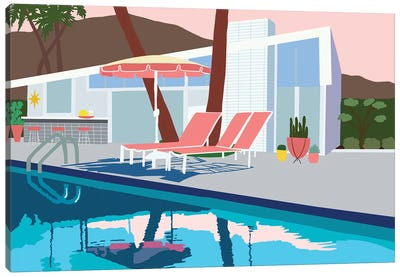 Pool Lounge I Canvas Art Print
