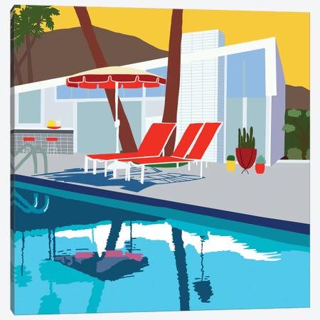 Pool Lounge II Canvas Print #JBC22} by Jen Bucheli Canvas Art