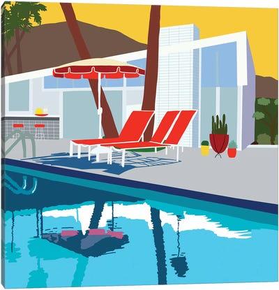 Pool Lounge II Canvas Art Print