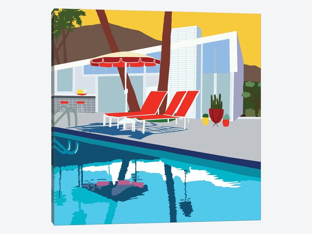 Pool Lounge II by Jen Bucheli 1-piece Canvas Print