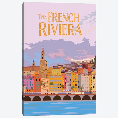 The French Riviera Canvas Print #JBC24} by Jen Bucheli Canvas Art Print