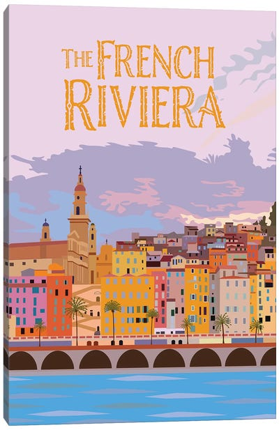 The French Riviera Canvas Art Print