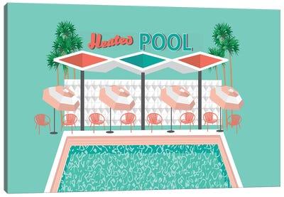Vintage Pool Canvas Art Print