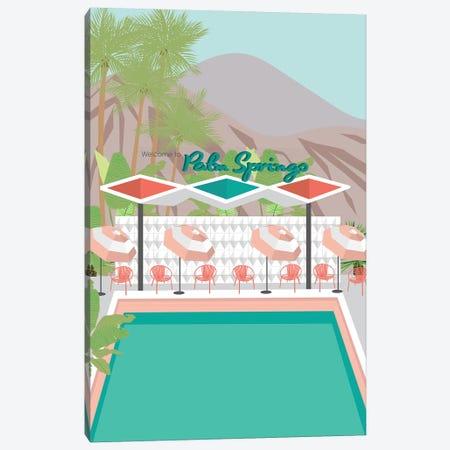 Welcome to Palm Springs Canvas Print #JBC26} by Jen Bucheli Art Print
