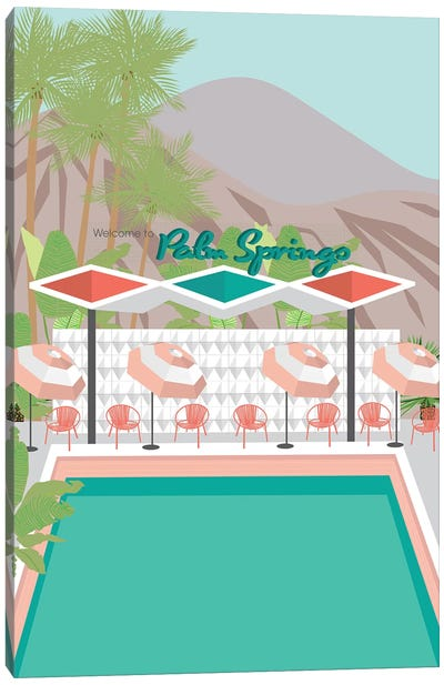 Welcome to Palm Springs Canvas Art Print