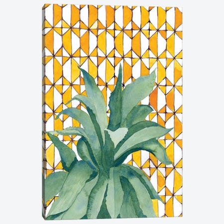 Yellow Tile Agave Canvas Print #JBC27} by Jen Bucheli Canvas Print
