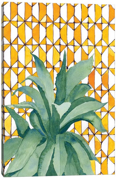 Yellow Tile Agave Canvas Art Print