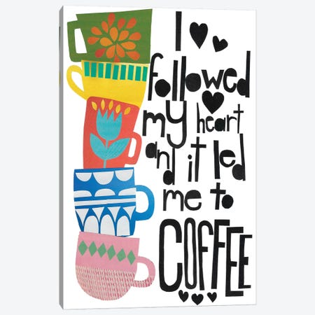 Heart And Coffee Canvas Print #JBC2} by Jen Bucheli Canvas Art