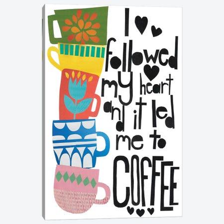 Heart And Coffee Canvas Print #JBC2} by Jen Bucheli Canvas Art