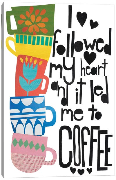 Heart And Coffee Canvas Art Print