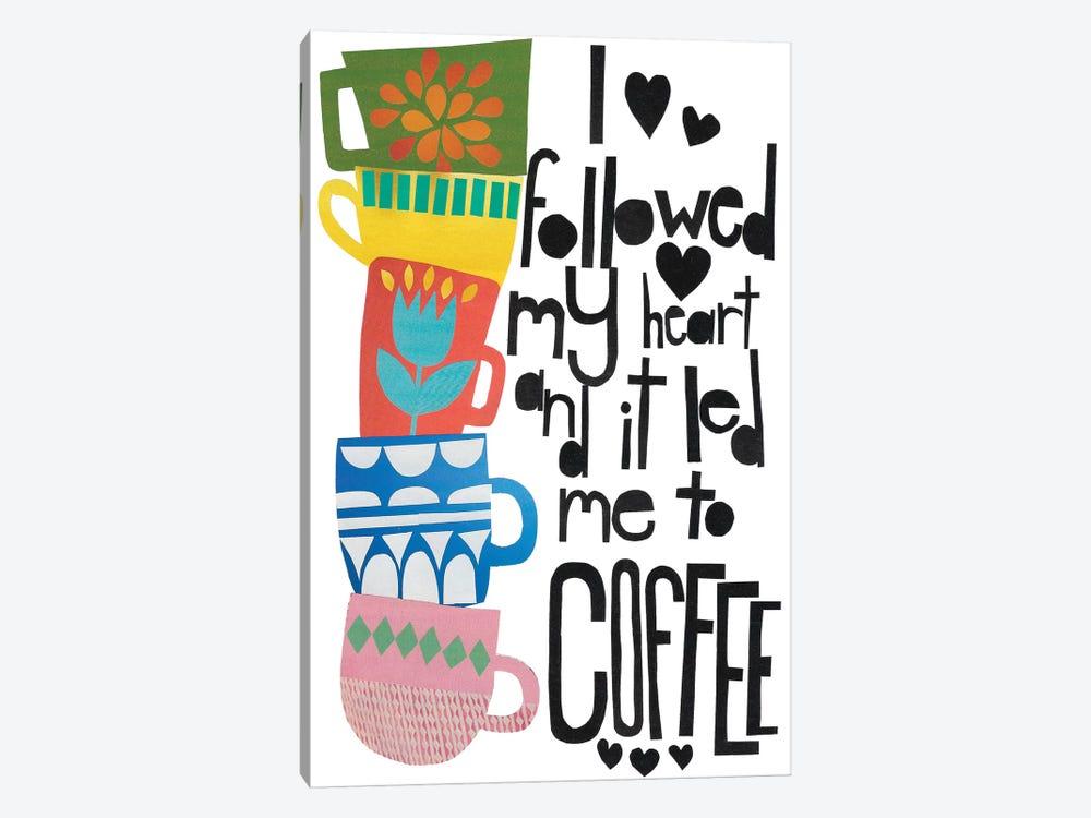 Heart And Coffee by Jen Bucheli 1-piece Canvas Art