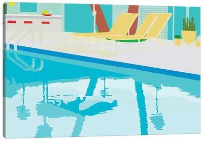Poolside Canvas Art Print