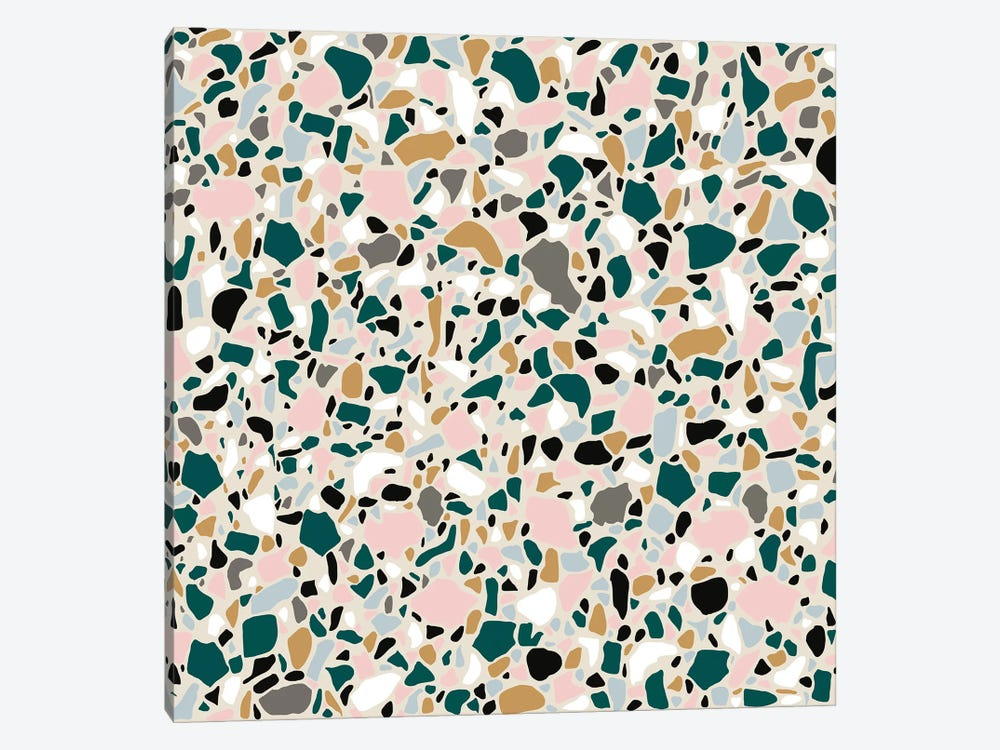 Teal Terrazo by Jen Bucheli 1-piece Canvas Art Print