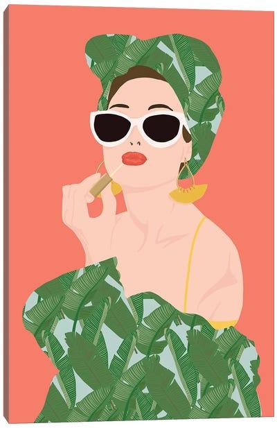 Tropical Lady Canvas Art Print