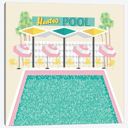 Vintage Pool in Pink Canvas Print #JBC38} by Jen Bucheli Canvas Art Print