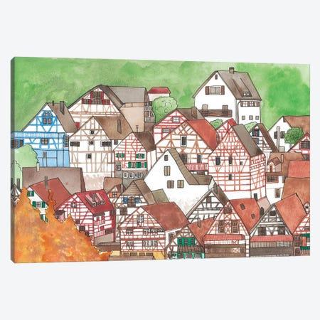 Small Town Canvas Print #JBC48} by Jen Bucheli Canvas Wall Art