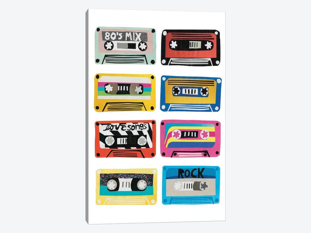 Retro Mix Tapes by Jen Bucheli 1-piece Canvas Artwork