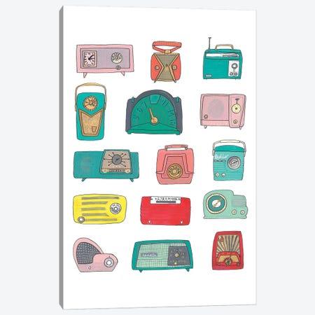 Retro Radios Canvas Print #JBC5} by Jen Bucheli Art Print