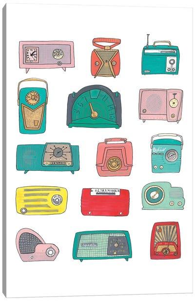 Retro Radios Canvas Art Print