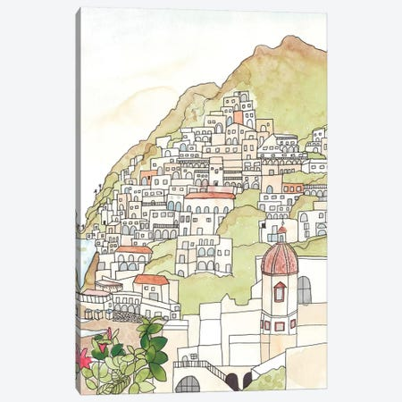 Sketched Mediterranean Cityscape Canvas Print #JBC7} by Jen Bucheli Canvas Art Print