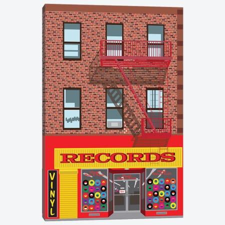 VInyl Records Canvas Print #JBC8} by Jen Bucheli Canvas Artwork
