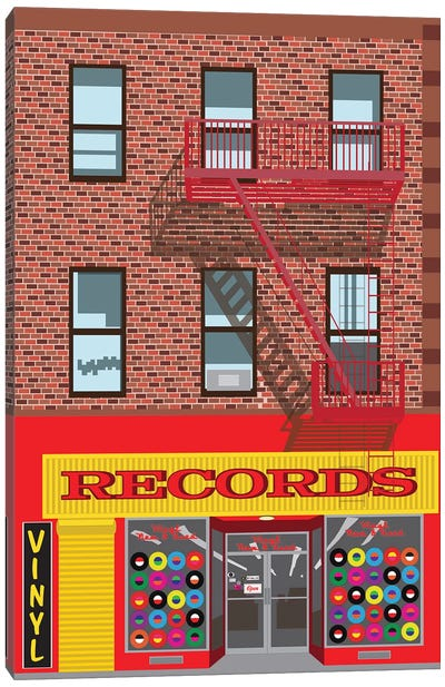 VInyl Records Canvas Art Print
