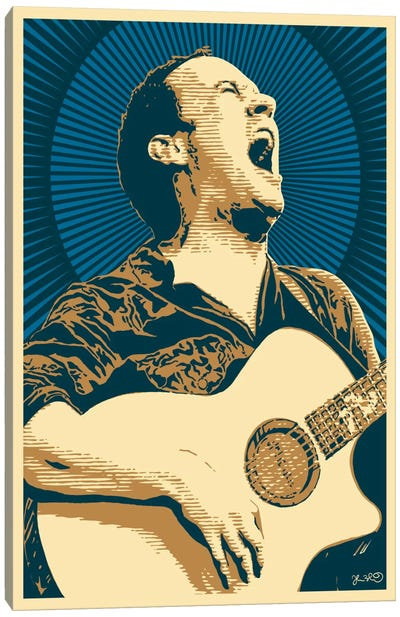 Dave Matthews Canvas Print #JBD10