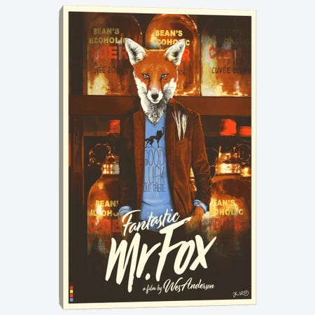 Fantastic Mr. Fox Canvas Print #JBD12} by Joshua Budich Canvas Wall Art